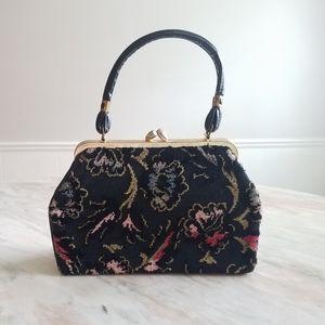Vintage carpet tapestry purse
